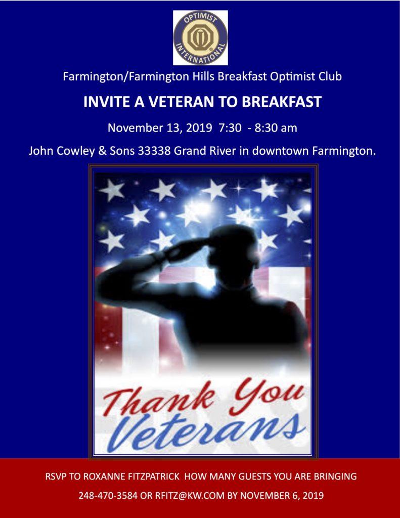 Veterans Breakfast 2019